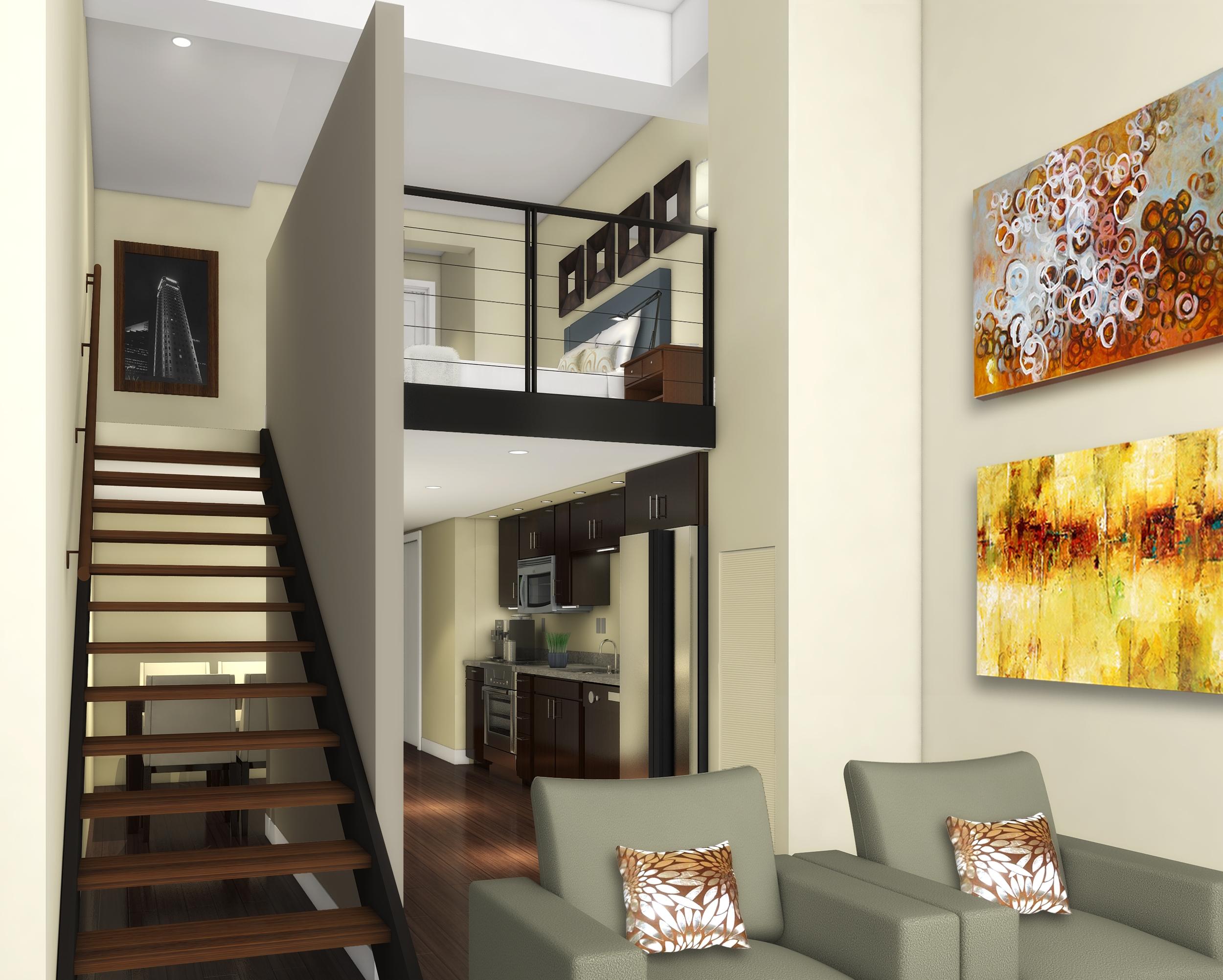Dream home lofts on pinterest park model homes loft for Loft in house